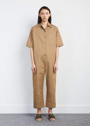 Nehera Odete Summer Trench Cotton Jumpsuit Dark Beige