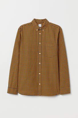 H&M Regular Fit Oxford Shirt - Yellow
