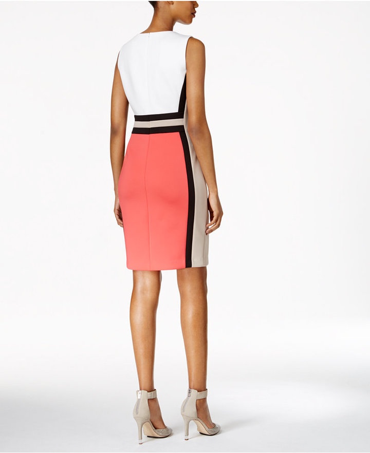Calvin Klein Colorblocked Sheath Dress 2