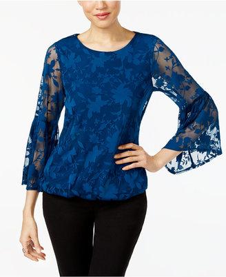 Alfani Burnout Bubble-Hem Top, Created for Macy's $69.50 thestylecure.com