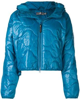 adidas by Stella McCartney front zip hooded puffed jacket