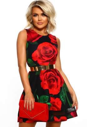 307d4ee1651b Pink Boutique Yes Please Black Floral Mini Skater Dress