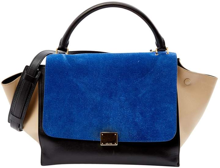 Trapèze leather bag