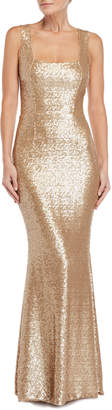 Dress the Population Raven Sequin Sleeveless Gown