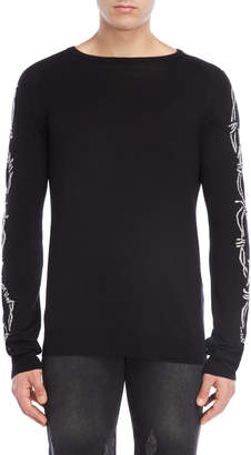 Bolongaro Trevor Black Printed Wool Sweater