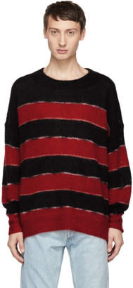 Isabel Marant Black and Red Mohair Reece Sweater