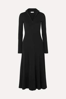 Rosetta Getty Turtleneck Stretch-cotton Jersey Midi Dress