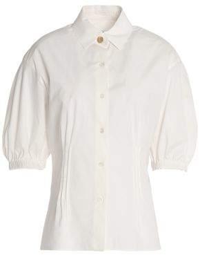 Sonia Rykiel Gathered Cotton-Blend Poplin Shirt