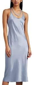 alexanderwang.t. Women's Satin Slipdress - Light, Pastel blue