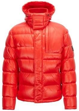 baaf5d618 BOSS Hugo Blouson-style down-filled jacket detachable hood 36R Red