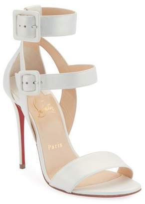 Christian Louboutin Multipot 100 Leather Red Sole Sandals