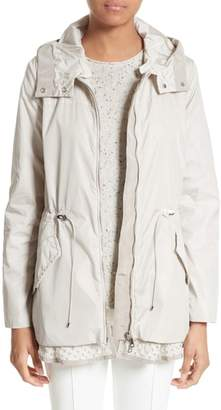 ... Moncler Lotus Water Resistant Peplum Raincoat