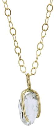 Melissa Joy Manning Adjustable Herkimer Diamond Necklace - Yellow Gold