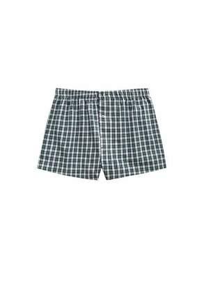 Check cotton boxer shorts
