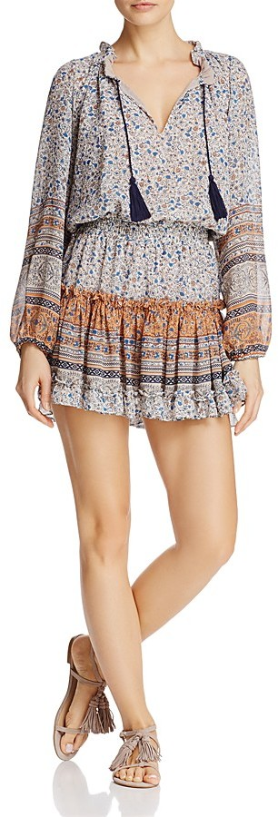 MISA Los Angeles Lorena Printed Chiffon Dress