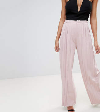 Missguided Pleated Wide Leg Trousers