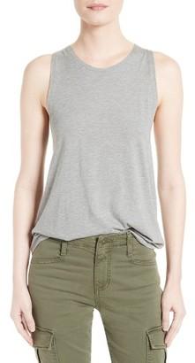 Women's Vince Cotton & Silk Twist Back Tank $145 thestylecure.com
