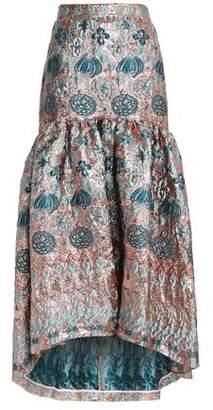 Temperley London Fluted Brocade Maxi Skirt