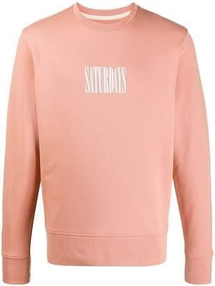 Saturdays NYC logo print sweatshirt