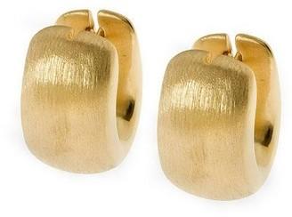 Arte D'oro Arte d'Oro Wide Oval-Shaped Huggie Hoop Earrings, 18K Gold