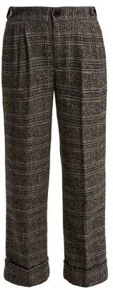 Masscob Anderson Cropped Cotton Blend Trousers - Womens - Grey Multi