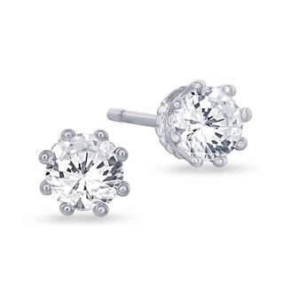 ENCHANTED FINE JEWELRY BY DISNEY Enchanted Disney Fine Jewelry 5/8 C.T. T.W. 10K White Gold Disney Princess Crown Stud Earrings