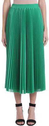 RED Valentino Mesh Perforated Green Skirt