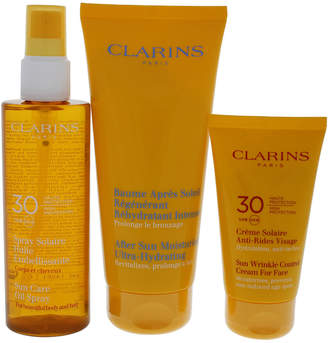 Clarins 3Pc Sun Protection Essentials Uva/Uvb 30