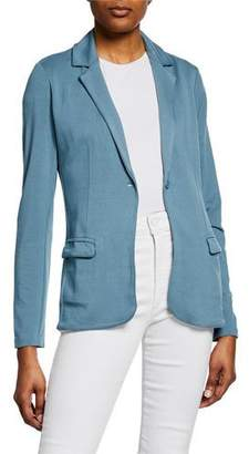 Neiman Marcus Majestic Paris for One-Button Long-Sleeve French-Terry Blazer