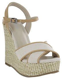 Mia Shoes Platform Wedge Sandals - Dossie