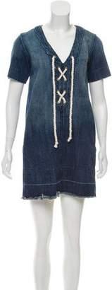 Current/Elliott Short Sleeve Denim Dress