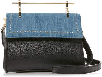 M2Malletier Mini Muse Leather And Denim Bag
