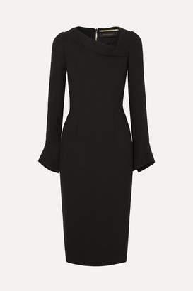 Roland Mouret Liman Fluted Crepe Dress - Black