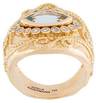 Aurelie Bidermann 'Cashmere' aquamarine and diamond ring