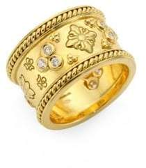 Temple St. Clair Nomad Diamond& 18K Yellow Gold Band Ring