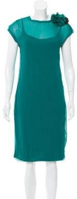 Lanvin Cap Sleeve Chiffon Dress