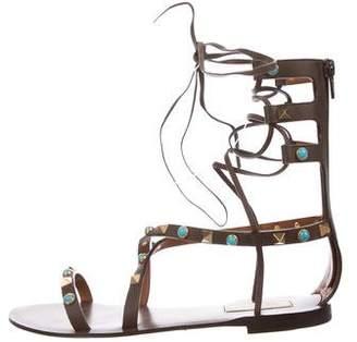 Valentino Rolling Rockstud Gladiator Sandal