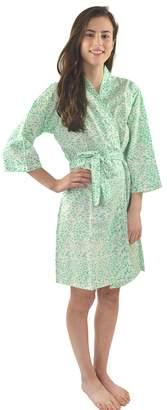India Amory Jade Spot Robe