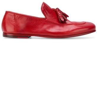 Rocco P. tassel trim loafers