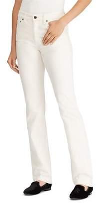 Ralph Lauren Straight-Leg Corduroy Jeans in Winter Cream