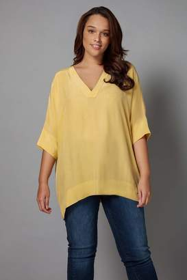 Live Unlimited Womens Cupro Box Top - Yellow