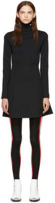 Calvin Klein Black Wool Turtleneck Dress