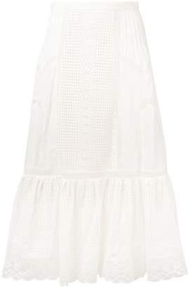Zimmermann high waisted lace skirt