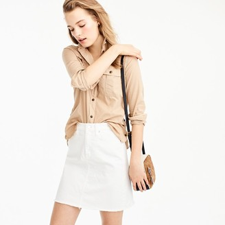White denim skirt with raw hem $69.50 thestylecure.com