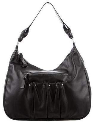Longchamp Ruched Leather Hobo