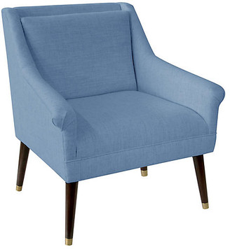 One Kings Lane Carson Accent Chair - French Blue Linen