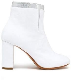 MM6 MAISON MARGIELA Layered Metallic Woven Ankle Boots