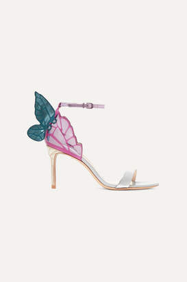Sophia Webster Chiara Mirrored And Glittered Leather Sandals - Silver