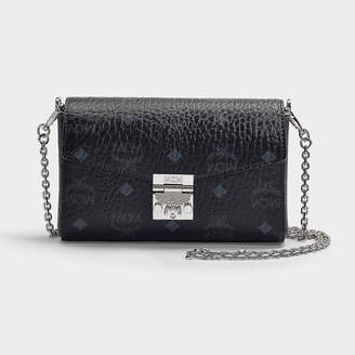 e67ab0858777dc MCM Millie Visetos Small Crossbody Bag In Black Coated Canvas