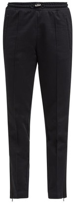 Moncler Side Stripe Cotton Jersey Track Pants - Womens - Black